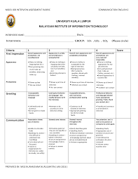 mock interview rubric pdf this is only a preview
