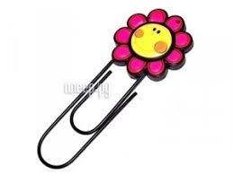 Купить Закладка-скрепка Эврика Розовый цветок 93918 по ...