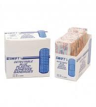 Metal Detectable <b>Adhesive Bandages</b> - <b>Plastic Strips</b>