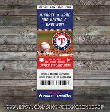 printable baseball ticket baby shower invitation 128270zoom