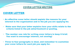 3 cover letter an a cover letter is an advertisement