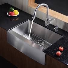 kraus 30 inch farmhouse single bowl stainless steel kitchen sink with noisedefend8482 soundproofing apron kitchen sink kitchen