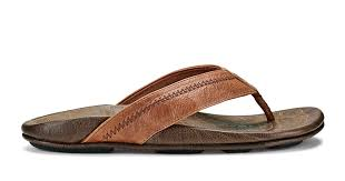 Hiapo <b>Men's Leather</b> Sandals - Rum / Dark Wood | OluKai