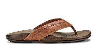 Hiapo <b>Men's Leather</b> Sandals - Rum / Dark Wood | OluKai