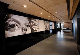 wall covering and interior for advertising agency leo burnetts sydney office advertising agency office advertising