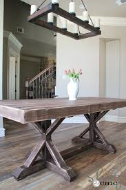 how to build a dining table chic dining room table
