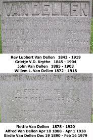 rev lubbert van dellen 1842 1919 a grave memorial rev lubbert van dellen