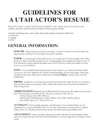 resume actor resume examples actor resume examples full size