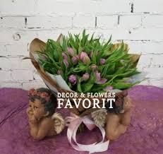 Купить букет из сиреневых тюльпанов с доставкой по Санкт ...