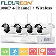 <b>FLOUREON Wireless</b> Home Security Camera System <b>4CH</b> 1080P ...