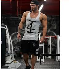 <b>High Quality</b> Fashion Casual Men Summer Gyms Health Fitness ...