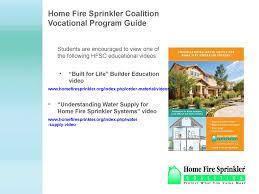 vocational student program fire services home fire sprinkler coalition vocational student program