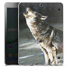 Wolf for <b>Tablet Silicone Case</b> (transparent) for Samsung Galaxy Tab ...