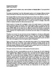 essay on gender equality   gcse miscellaneous   marked by teachers compage  zoom in