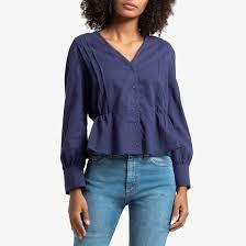 Рубашка с v-образным вырезом и длинными рукавами <b>La</b> ...