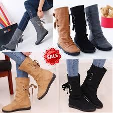 Women <b>Autumn Winter</b> Boots <b>Elegant New</b> Fashion Mid-Calf Solid ...
