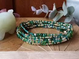 Emerald Jade Long <b>Seed Bead</b> Stretch Bracelet, <b>Necklace</b>, May ...