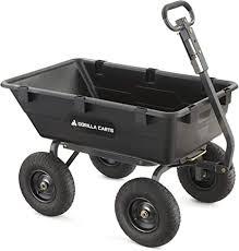 Gorilla Carts Heavy-Duty Poly Yard Dump Cart | 2-In ... - Amazon.com