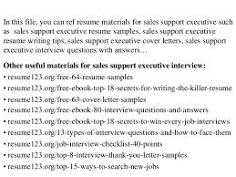 resume executive