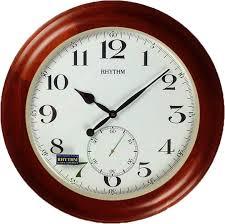 Деревянные <b>настенные часы Rhythm CMG293NR06</b> — купить в ...