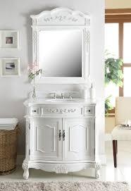traditional style antique white bathroom:  bc w aw  traditional style antique white fairmont sink vanity w mirror size  x  x  h