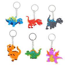 6pcs <b>Cartoon Dinosaur</b> Keychain Pendant Keyring <b>Dinosaur</b> Party ...