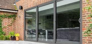 large sliding patio doors: sliding patio doors kat uk aluminium triple track sliding patio doors
