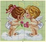 Ангелы схемы для вышивания