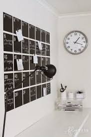 super sleek use of magnetic chalkboard paint for an office wall calendar you can magnetize chalkboard paint office
