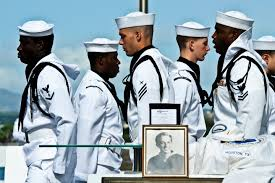 u s department of defense photo essay sailors perform facing movements during the burial service of pearl harbor survivor navy petty officer 1st