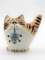 "<b>Фигурка</b>, статуэтка ""<b>Кот с</b> мышью"", мышелов CheriDes 9631122 в ..."