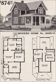 Large list of traditional home floor plans    antiquehomestyle com    old fashioned farmhouse floor plans   Modern Home B   Farmhouse style   Sears House Plans