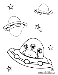 Small Picture Alien in spaceship coloring pages Hellokidscom