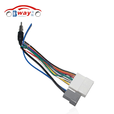 online buy whole nissan stereo wiring from nissan stereo car stereo female iso radio plug power adapter wiring harness special for nissan tiida iso harness
