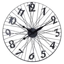 <b>часы настенные</b> BICYCLE WHEEL D600мм черные металл - Чижик