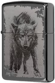 49073 <b>Зажигалка Zippo Wolf Design</b>, Black Ice