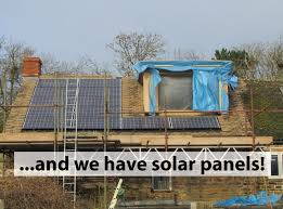 fitting solar panels on a new roof build home cotswold