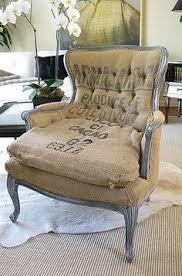 chair with burlap burlap furniture