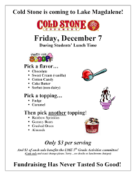 cold stone fundraiser flyer
