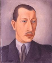 Igor Strawinsky Öl auf Leinwand 46 x 38 cm - Igor0235_1