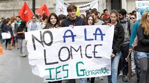 Resultado de imagen de manifestacion contra la lomce