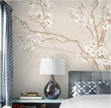 <b>Hand Painted</b> Large Magnolia <b>Tree</b> Flowers <b>Tree</b> Wallpaper Wall ...