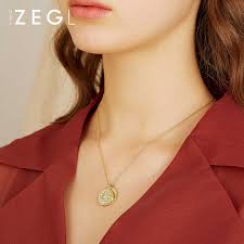 ZEGL new sweater <b>chain long</b> moon <b>necklace clavicle chain</b> for ...