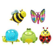 6pcs Mini Animal Head Foil Balloons Inflatable Air Balloon Happy ...