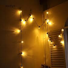 Kaitlyn~6m <b>20LED</b> Warm White Bulb Shape <b>String</b> Light Christmas ...