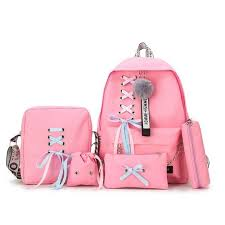 Generic 5pcs/set <b>Canvas</b> School Backpack <b>Mochila</b> Feminina ...