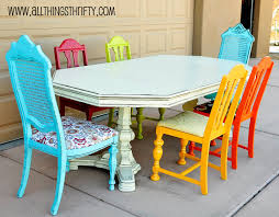 Of Painted Dining Room Tables Dining Room Table Transformation