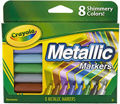 Crayola Metallic Markers, 8 Count: Toys & Games - Amazon.com