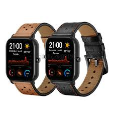 <b>20mm</b> Premium Genuine Leather <b>Watch Band</b> Strap For Huami ...