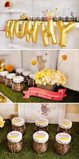 classic modern winnie the pooh baby shower hostess the homemade honey brown sugar scrub makes a perfect favor for this theme it s cost effective and you only need a few ingredients to whip up a batch